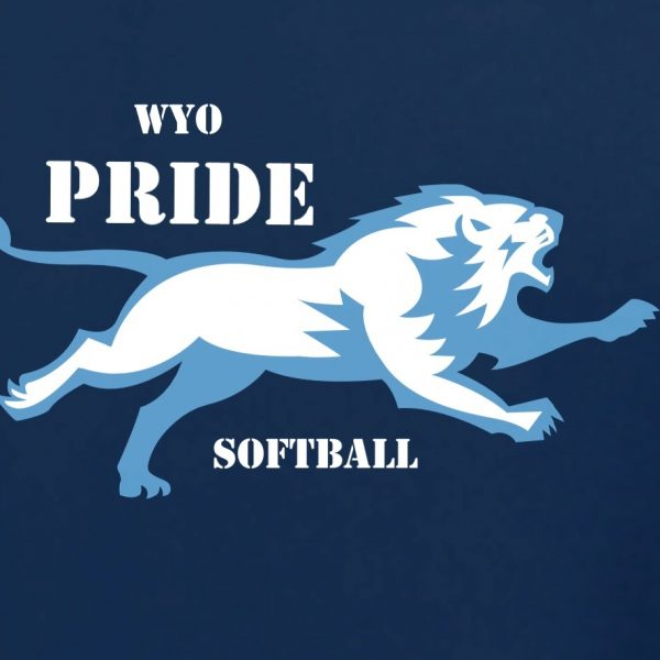 Wyo Pride softball Columbia blue