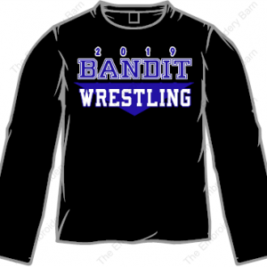 bANDIT WRESTLING 2019 LONG SLEEVE TEE