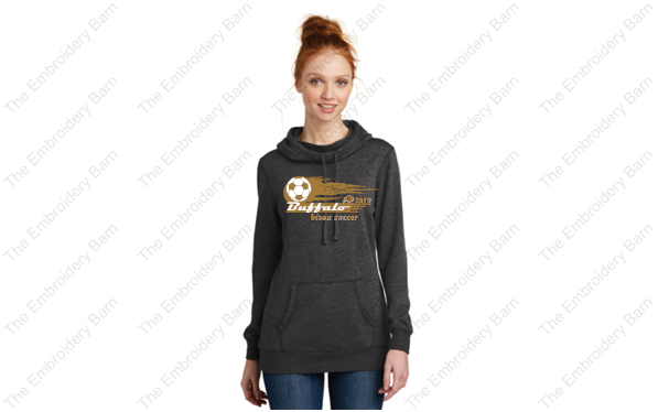 dm493 ladies hoodie soccer