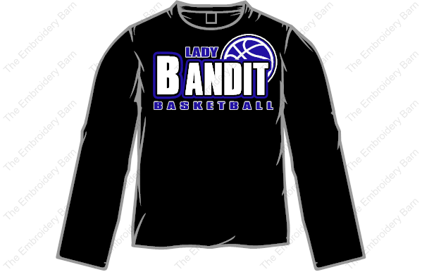 lady bandit basketball long sleeve t-shirt