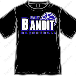 lady bandit basketball t-shirt